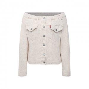 Джинсовая куртка x Levis Ganni. Цвет: бежевый