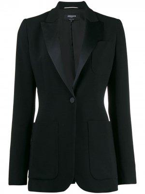 Пиджак-смокинг Rochas. Цвет: черный