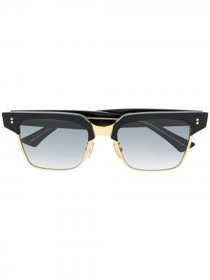 Солнцезащитные очки в массивной оправе Cutler & Gross. Цвет: черный