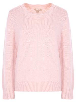 Пуловер из кашемира и хлопка MICHAEL KORS. Цвет: розовый