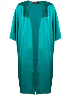 Атласное кимоно средней длины Gianluca Capannolo. Цвет: зеленый