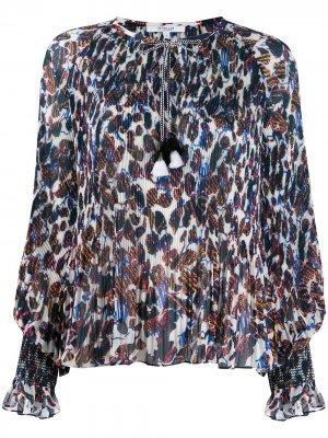 Блузка Helena с плиссировкой и цветочным принтом Derek Lam 10 Crosby. Цвет: ecu ecru