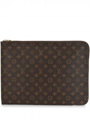 Папка для документов 2000-х годов Louis Vuitton. Цвет: коричневый
