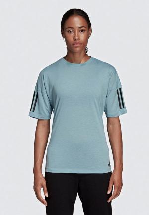 Футболка adidas W MH 3S T-SHIRT. Цвет: серый