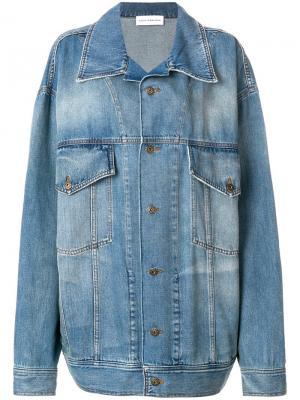 Джинсовая куртка кроя оверсайз Faith Connexion. Цвет: синий