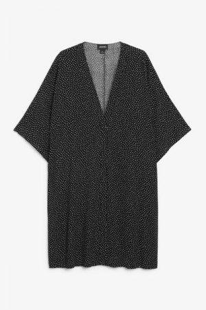 Пляжное платье миди Monki. Цвет: черный, белый