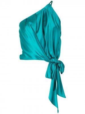 Укороченный топ на одно плечо Michelle Mason. Цвет: зеленый