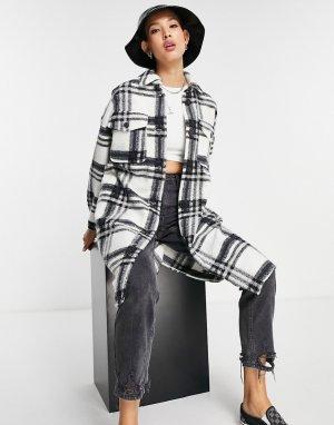 Удлиненная куртка рубашечного кроя в клетку -Разноцветный Vero Moda