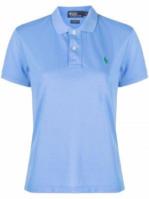 Рубашка поло с вышивкой Polo Ralph Lauren. Цвет: синий