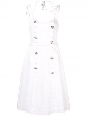 Двубортное платье Dice Kayek. Цвет: белый