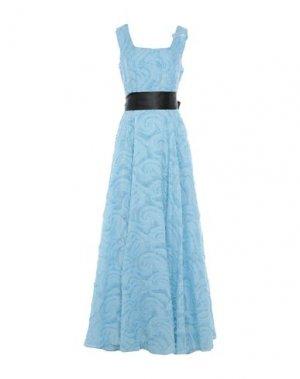 Длинное платье ALESSANDRO LEGORA. Цвет: лазурный