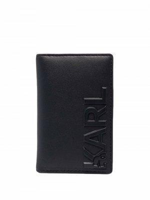 Картхолдер K/Karl с тиснением Karl Lagerfeld. Цвет: черный