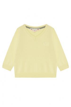 Желтый пуловер с логотипом Bonpoint. Цвет: желтый