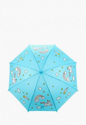 Зонт-трость Goroshek. Цвет: голубой