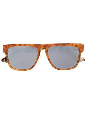 Солнцезащитные очки в квадратной оправе Mcq By Alexander Mcqueen Eyewear. Цвет: жёлтый и оранжевый