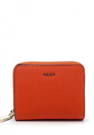 Кошелек DKNY DK001BWQZL02. Цвет: коралловый, оранжевый