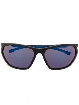 Солнцезащитные очки 1257/S в прямоугольной оправе BOSS. Цвет: черный