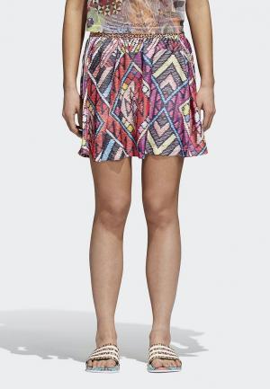 Юбка adidas Originals FARM SKIRT. Цвет: разноцветный