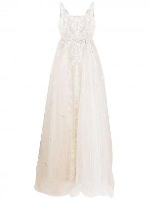 Свадебное платье с вышивкой Loulou. Цвет: нейтральные цвета