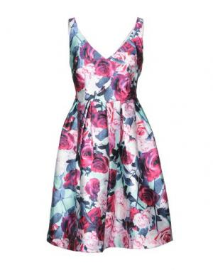 Короткое платье LOUCHE. Цвет: фуксия