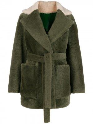 Двусторонняя куртка оверсайз Blancha. Цвет: зеленый