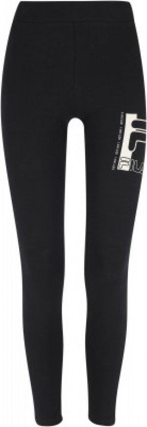 Легинсы женские , размер 48 FILA. Цвет: черный