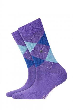 Фиолетовые носки с узорами-ромбами Burlington. Цвет: фиолетовый