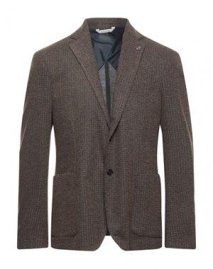 Пиджак ALESSANDRO GILLES. Цвет: коричневый