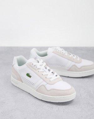 Белые кожаные кроссовки T-Clip-Белый Lacoste