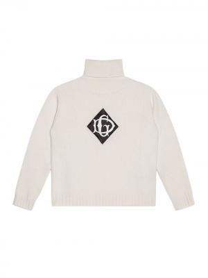 Водолазка с нашивкой-логотипом Dolce & Gabbana Kids. Цвет: белый