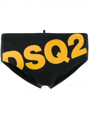 Плавки с логотипом Dsquared2. Цвет: черный