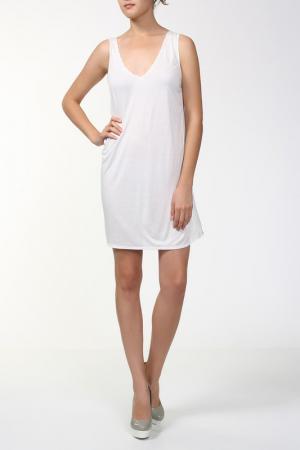 Платье джерси Aiko. Цвет: белый
