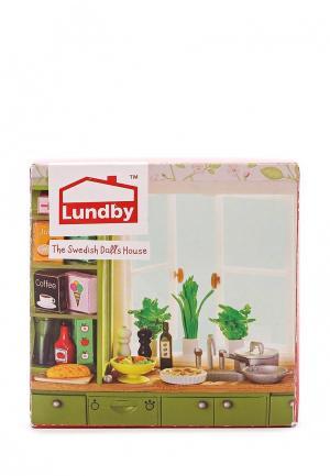 Набор игровой Lundby кухонные аксессуары 21 штука. Цвет: разноцветный