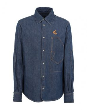 Джинсовая рубашка VIVIENNE WESTWOOD ANGLOMANIA. Цвет: синий