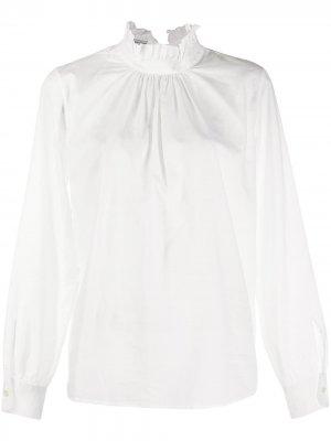 Блузка с оборками Officine Generale. Цвет: белый