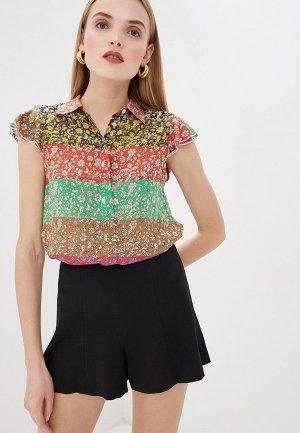Блуза Alice + Olivia. Цвет: разноцветный