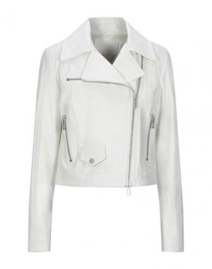 Куртка DROMe. Цвет: белый