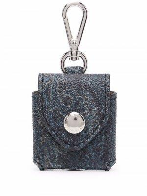 Мини-кошелек с принтом пейсли ETRO. Цвет: синий