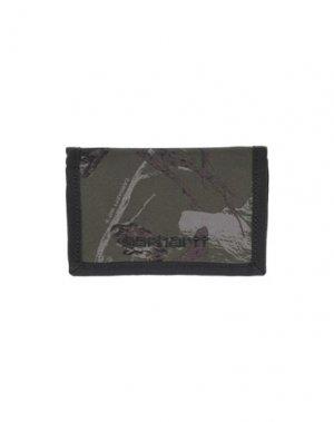 Бумажник CARHARTT. Цвет: зеленый-милитари