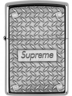 Зажигалка Diamond Plate Zippo Supreme. Цвет: серебристый