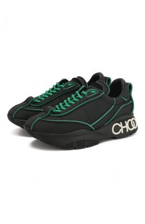 Текстильные кроссовки Raine Jimmy Choo. Цвет: черный