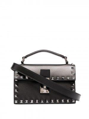 Маленькая сумка через плечо Rockstud Valentino Garavani. Цвет: черный