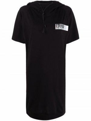 Платье-футболка с капюшоном Colmar. Цвет: черный