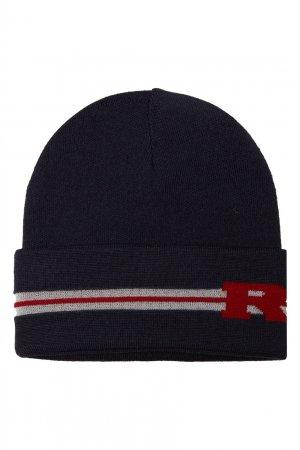 Синяя вязаная шапка Junior Republic. Цвет: синий