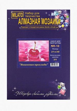 Набор для творчества Милато алмазная мозаика Вишневая прохлада, 25 цветов. Цвет: розовый