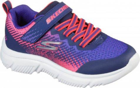 Кроссовки для девочек Go Run 65, размер 32 Skechers. Цвет: синий
