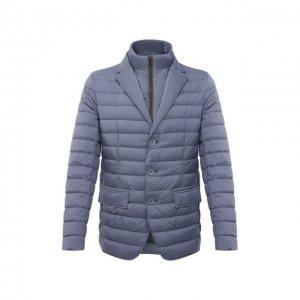 Пуховая куртка Herno. Цвет: серый