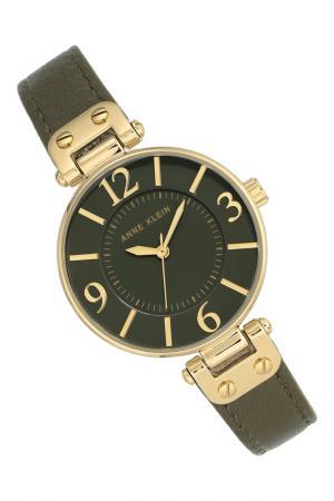 Часы наручные Anne Klein. Цвет: зеленый, золотой