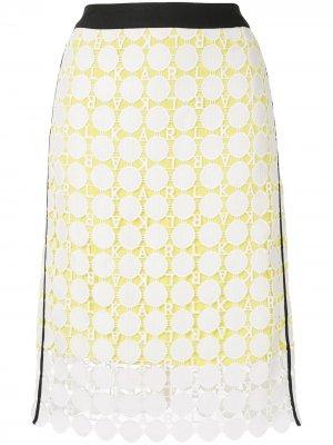 Кружевная юбка Karl Lagerfeld. Цвет: белый