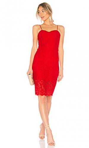 Платье pierre Bardot. Цвет: красный